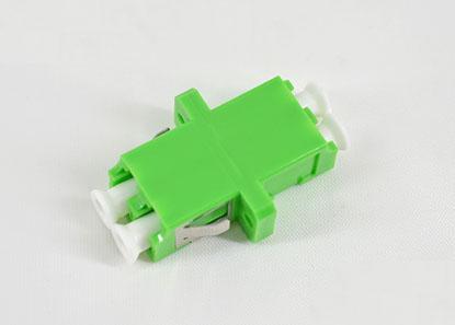 标准 LC/APC双工有耳SC型绿色光纤适配器