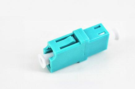 标准 LC/UPC单工OM3水蓝色光纤适配器