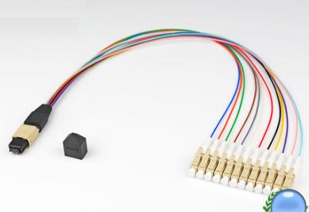 MPO/MTP-LC/UPC多模OM2-12芯模块盒专用光纤跳线