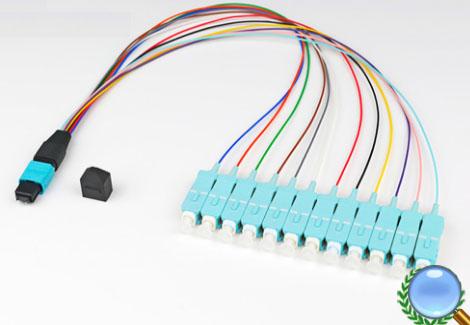 MPO/MTP-SC/UPC多模OM3-12芯模块盒专用光纤跳线