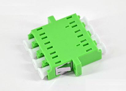 标准 LC/APC四联有耳SC型绿色光纤适配器