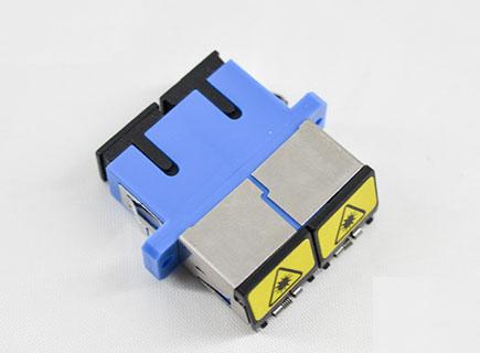 定制 SC/UPC双工金属活动盖光纤适配器