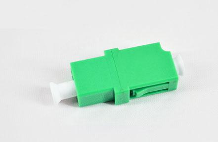标准 LC/APC单工绿色光纤适配器