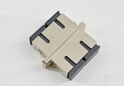 SC/UPC双工金属活动盖光纤适配器