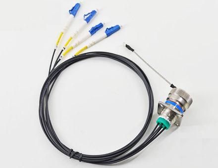 J599-4芯方头Socket野战光缆连接跳线