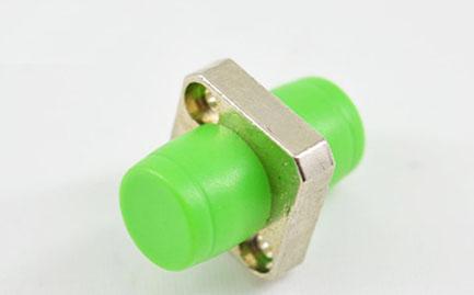 标准 FC/APC单工方形一体锌合金绿帽光纤适配器
