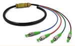 FC/APC SM 单模4芯室外光纤防水尾缆