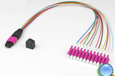 MPO/MTP-LC/UPC多模OM4-12芯模块盒专用光纤跳线