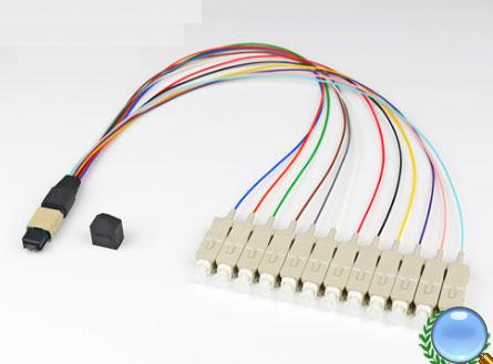 MPO/MTP-SC/UPC多模OM2-12芯模块盒专用光纤跳线