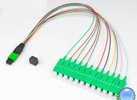 MPO/MTP-SC/APC单模OM2-12芯模块盒专用光纤跳线