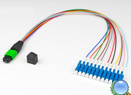 MPO/MTP-LC/UPC单模12芯模块盒专用光纤跳线