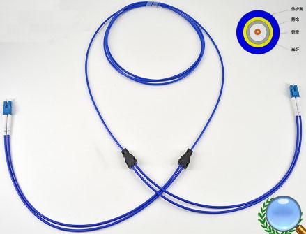 LC-LC单模一管双芯螺旋软铠装光纤跳线
