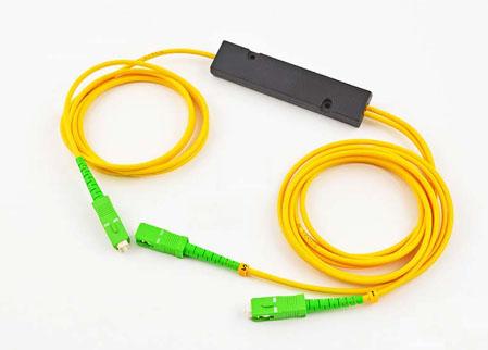FBT单模拉锥1分2小盒式封装式光纤分路器