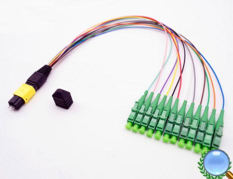MPO/MTP-LC/APC单模12芯模块盒专用光纤跳线