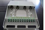 12-24口防尘罩光纤终端盒19英寸机架固定式