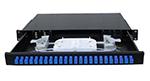 12-48口抽拉式光纤终端盒19英寸机架式