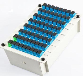 1分64插片式PLC光纤分路器