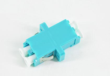 标准 LC/UPC双工有耳SC型OM3水蓝色光纤适配器