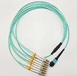 8芯MPO-LC OM3光纤跳线