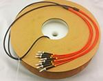 ST-ST 4芯多模62.5/125黑色TPU室外野战光纤跳线