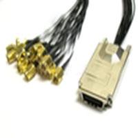 0.5M CX4 (SFF-8470) to (16) SMA RF Coax Cable