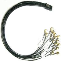1M Mini SAS (SFF-8087) to (16) SMA RF Coax Cable